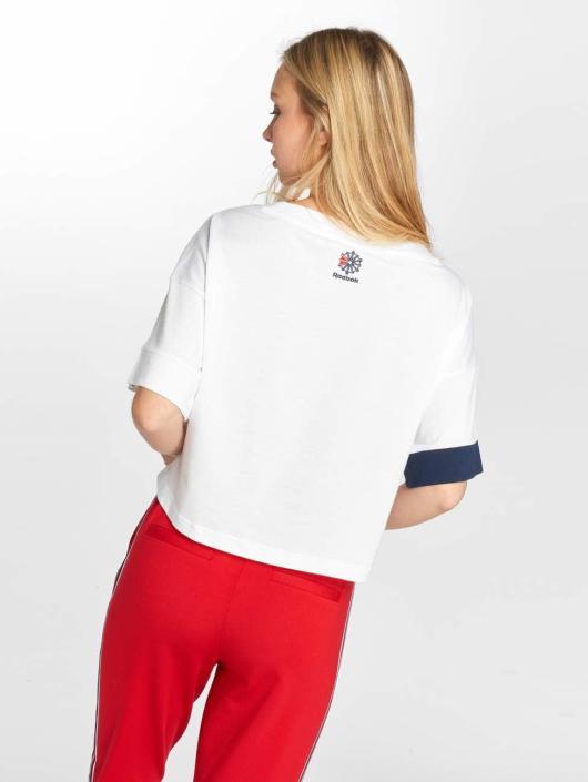 Reebok T-Shirt Ac Cropped weiß