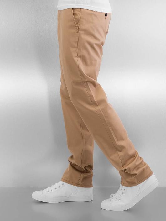 Reell Jeans Cargo Nohavice Straight Flex béžová