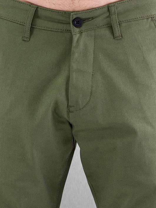Reell Jeans Cargo Nohavice Straight Flex olivová