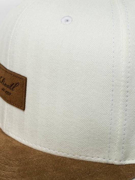 Reell Jeans Gorra Snapback Suede blanco