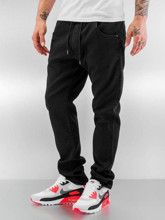 reell jeans jogger noir homme jean coupe droite 287078. Black Bedroom Furniture Sets. Home Design Ideas