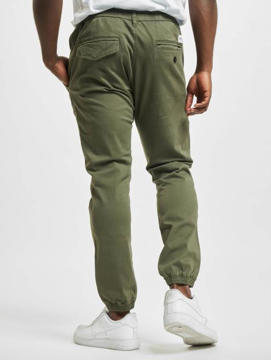 Reell Jeans tepláky Reflex II olivová