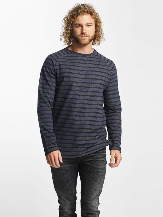 Reell Jeans Tričká dlhý rukáv Striped modrá