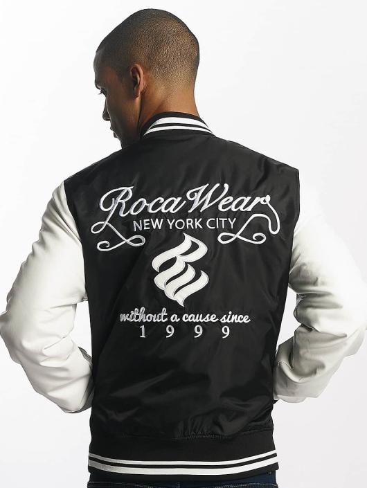 Goede Rocawear jas / Baseball jack College Jacket in zwart 409008 TW-77
