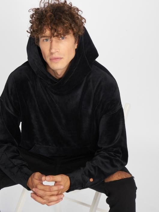 Rocawear Hoodie Velour Samt black
