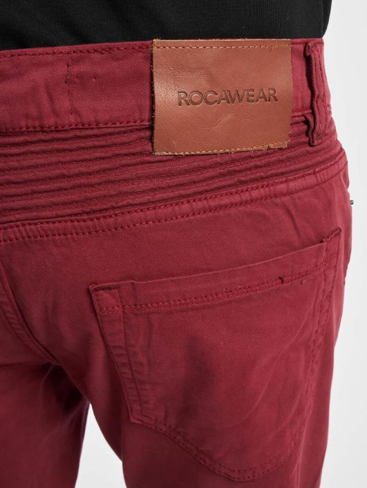 Rocawear Straight Fit Jeans Quilted rot