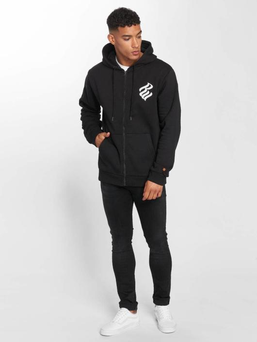 Rocawear Zip Hoodie Brand schwarz