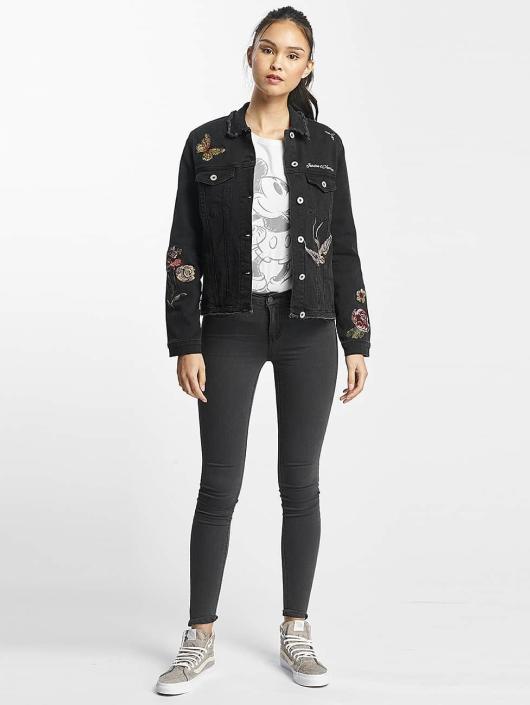 397c7c6fc86de Rock Angel   Nia Embroideries noir Femme Veste Jean 415346