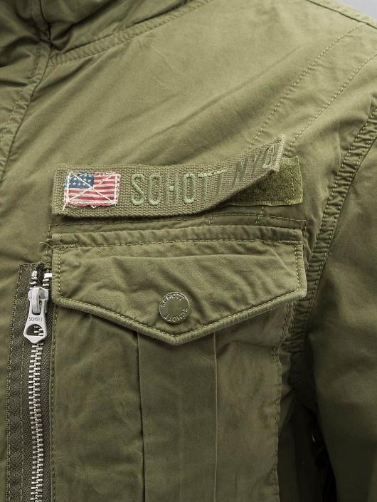 Schott NYC Prechodné vetrovky Field Squad kaki