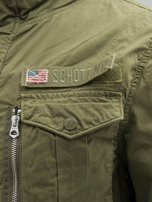 Schott NYC Übergangsjacke Field Squad khaki