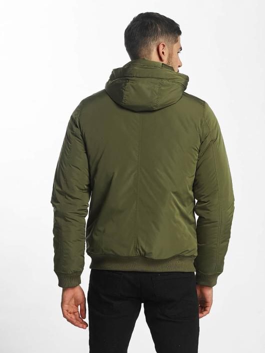 SHINE Original Bomber jacket Hooded green