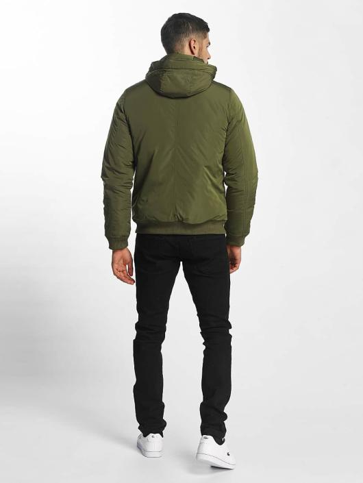 SHINE Original Bomber Hooded vert