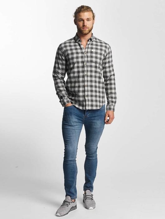 SHINE Original Camisa Checked Twill gris
