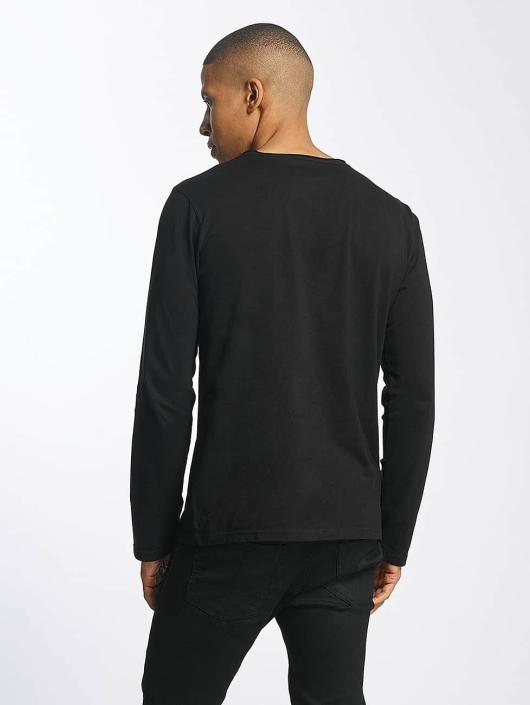 SHINE Original Longsleeve Andrian Dyed & Wash Out zwart