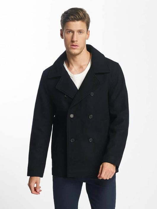 SHINE Original Manteau Button Row bleu