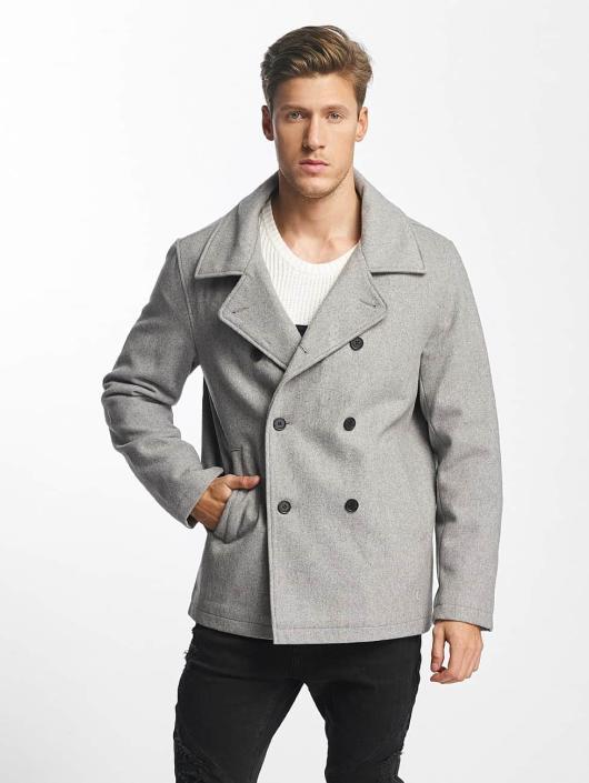 SHINE Original Manteau Button Row gris
