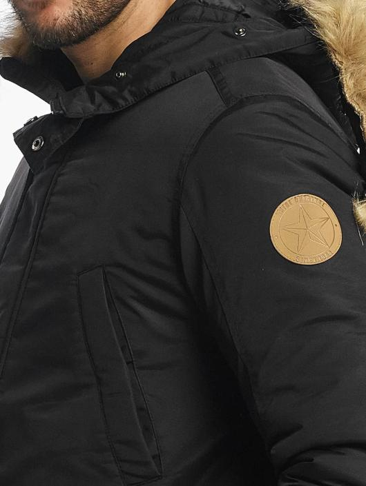 SHINE Original Mantel Taslan Parka schwarz
