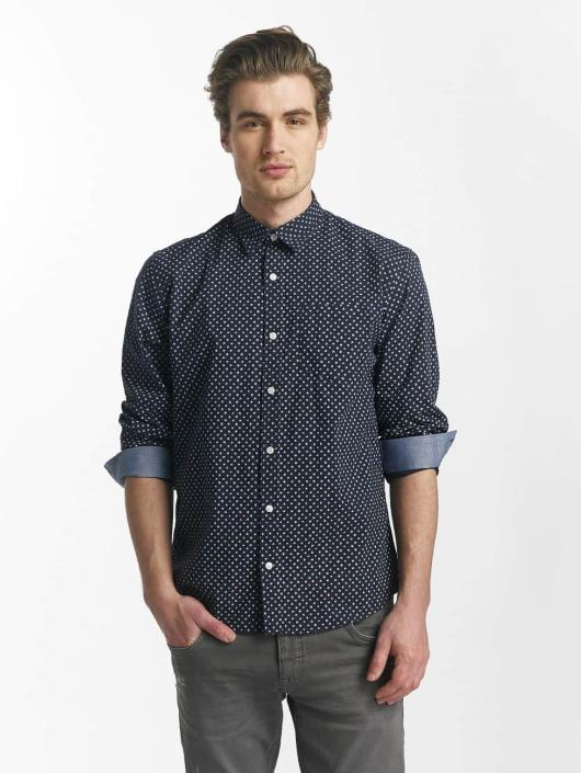 SHINE Original overhemd Fletcher Broken Star Printed Shirt blauw