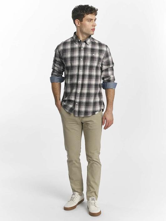 SHINE Original overhemd Fernando Grunge Check grijs