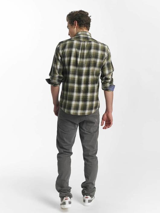 SHINE Original overhemd Fernando Grunge Check groen