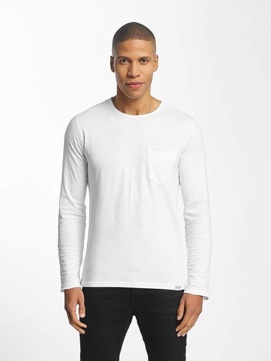 SHINE Original Pitkähihaiset paidat Andrian Dyed & Wash Out valkoinen