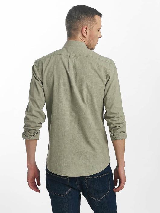 SHINE Original Skjorte Cotton Mélange Otto Line grøn