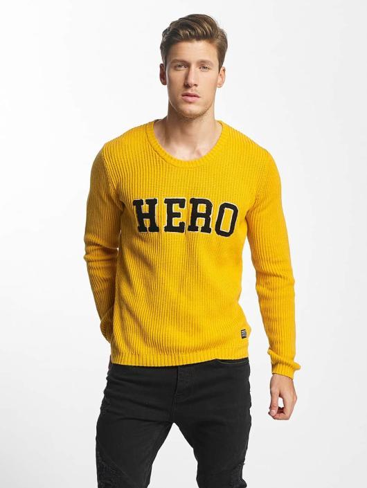 SHINE Original Sweat & Pull O-Neck Knit jaune