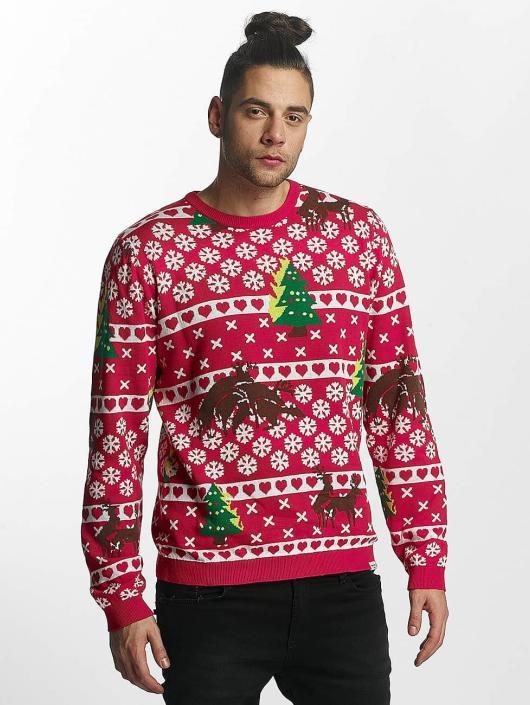 SHINE Original Swetry Whitney Christmas Jaquard czerwony