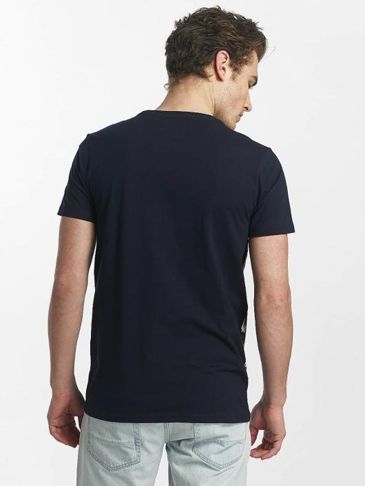 SHINE Original T-paidat Lupe Palm Print sininen