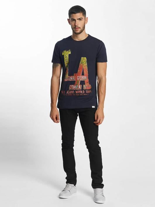 SHINE Original t-shirt Denim City Print blauw