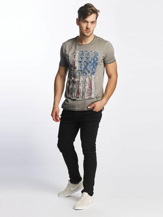 Printed Oil Original Washed Gris Shine T shirt 418251 Homme DbHeE29YWI