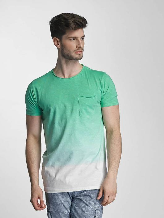 SHINE Original t-shirt Dip Dyed groen