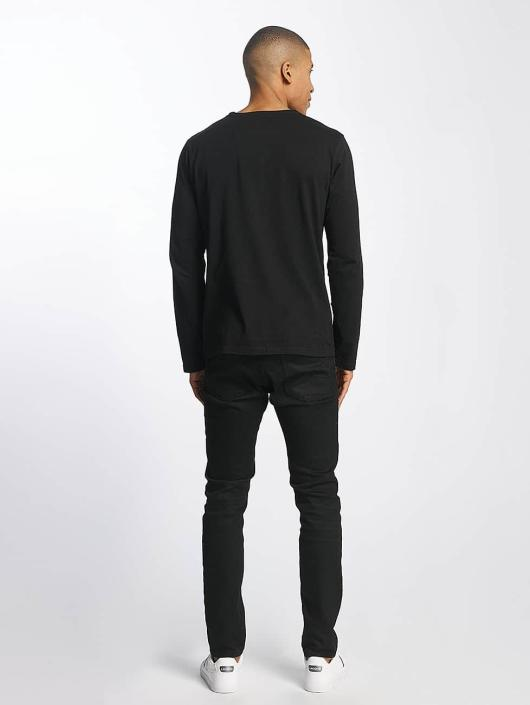 SHINE Original T-Shirt manches longues Andrian Dyed & Wash Out noir