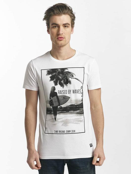 SHINE Original T-Shirt Lupe Palm Print white