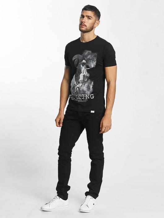 SHINE Original t-shirt Animal Print zwart