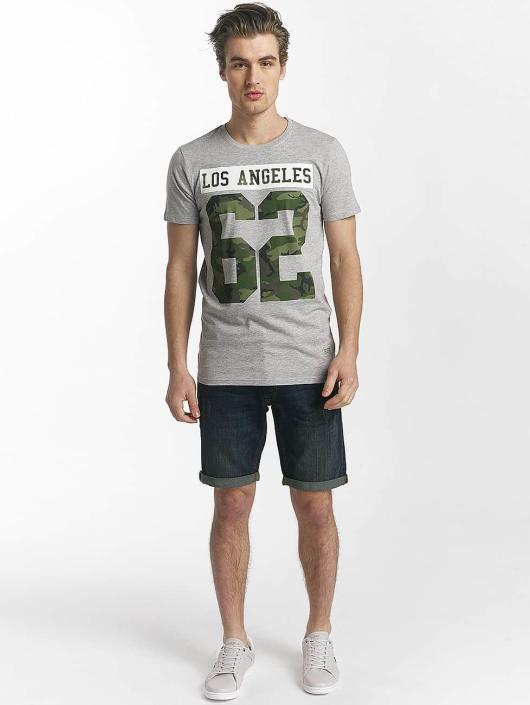 SHINE Original T-shirts Buster Varsity Print grå