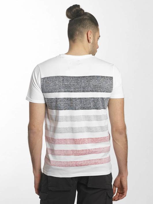 SHINE Original T-shirts Faded Stripe hvid