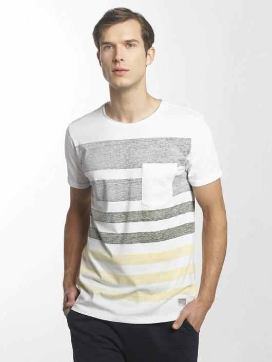 SHINE Original T-shirts Faded Stripe hvid