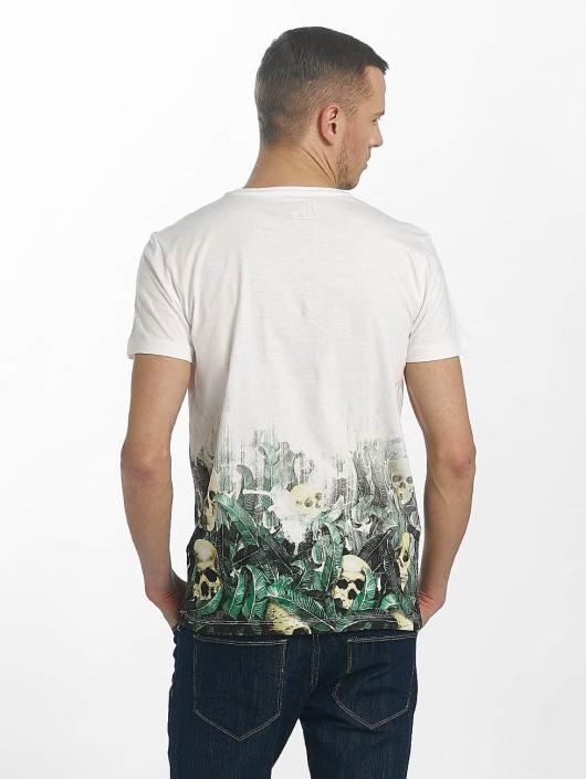 SHINE Original T-shirts Leonard Gradient Skull Print hvid