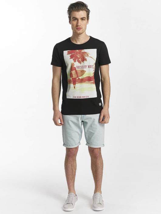SHINE Original T-shirts Lupe Palm Print sort