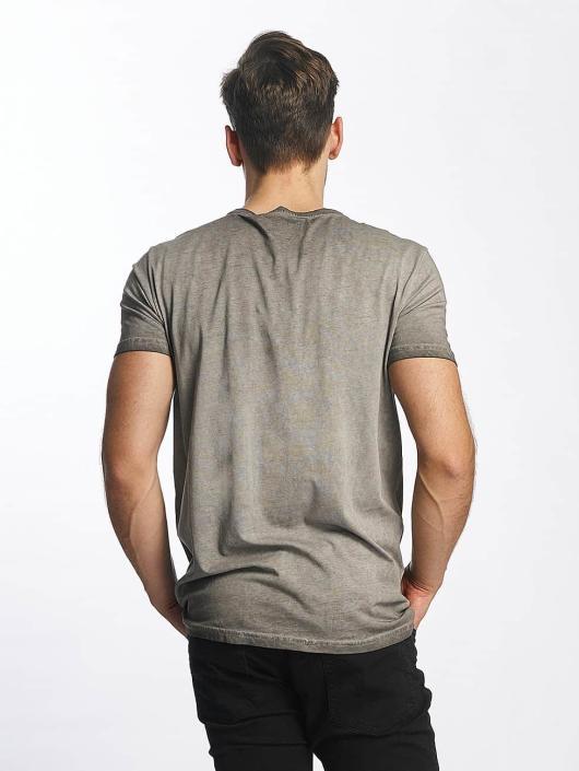 SHINE Original T-Shirty Oil Washed Printed szary