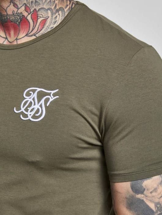 Sik Silk T-paidat Gym khakiruskea