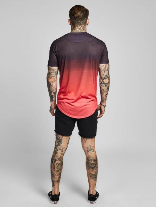 Sik Silk T-paidat Curved Hem Fade vaaleanpunainen