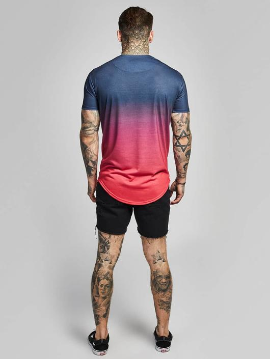Sik Silk T-Shirt Curved Hem Faded red