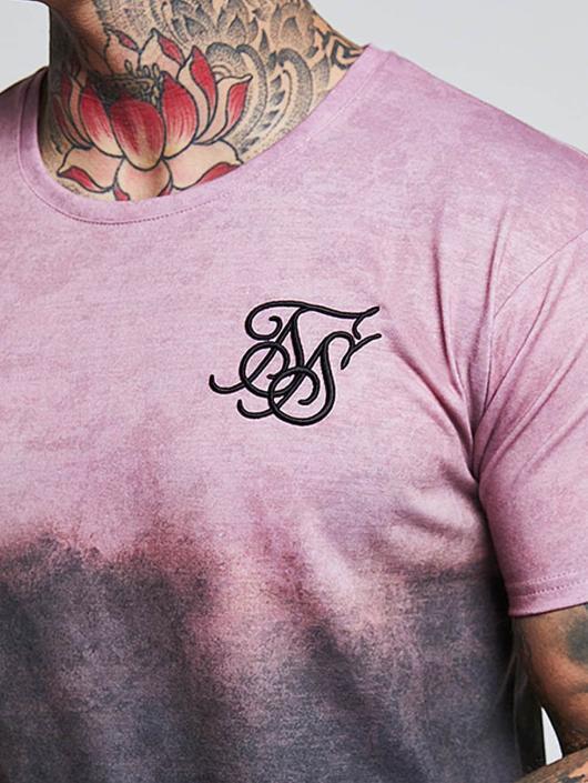 Sik Silk T-shirts Curved Hem Faded grå