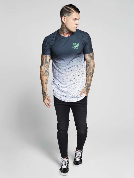 Sik Silk T-shirts Curved Hem Fade hvid