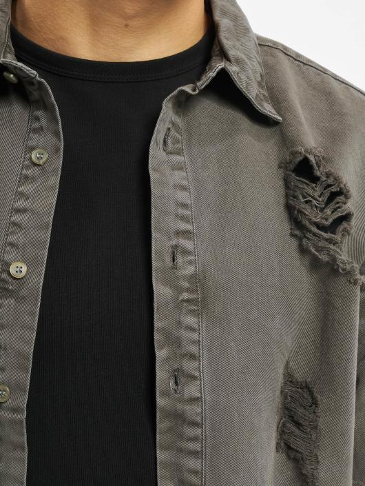 Sixth June Рубашка Destroyed серый