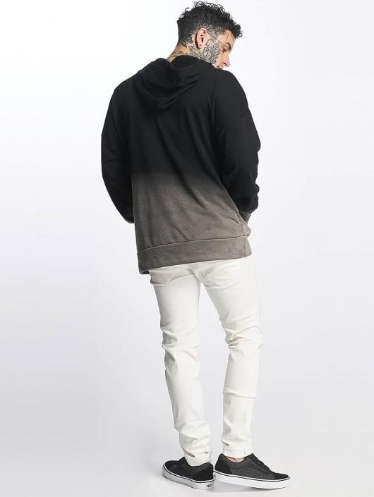 Sixth June Bluzy z kapturem Oversize Blach Washed Logo czarny