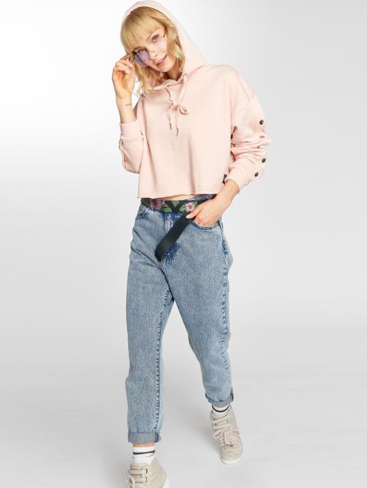 Sixth June Bluzy z kapturem Button rózowy