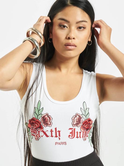 Sixth June Body Roses hvit